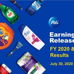 【P&G20Q4】マークス、プロクター&ギャンブル(PG)の20年第4四半期決算を確認する。