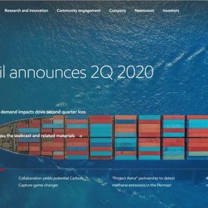 【XOM20Q2】マークス、エクソン・モービル(XOM)の2020年第2四半期決算発表を確認する。