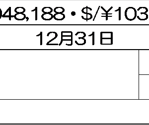 【トータルリターン】マークス、2020年12月のトータルリターンを確認する。