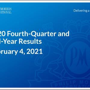 【PM20Q4】マークス、フィリップ・モリス・インターナショナル(PM)の2020年第4四半期決算を確認する。