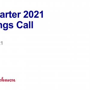 【JNJ21Q1】マークス、ジョンソン&ジョンソン(JNJ)の2021年第1四半期決算発表を確認する。
