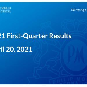 【PM決算】マークス、フィリップ・モリス・インターナショナル(PM)の2021年第1四半期決算を確認する。