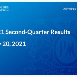 【PM21Q2】マークス、フィリップ・モリス・インターナショナル(PM)の2021年第2四半期決算を確認する。