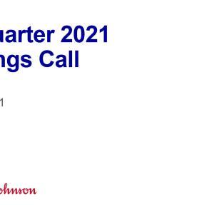 【JNJ21Q2】マークス、ジョンソン&ジョンソン(JNJ)の2021年第2四半期決算発表を確認する。