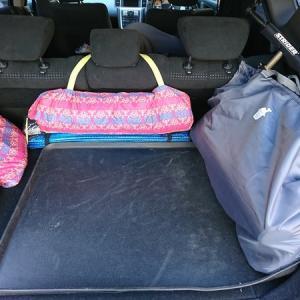 ストライダーやかさばる公園グッズ、バッグにひとまとめにして収納!が便利