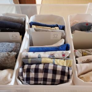 【整理収納】家族で育児をシェアできる♪100均アイテムで作る子供服の収納