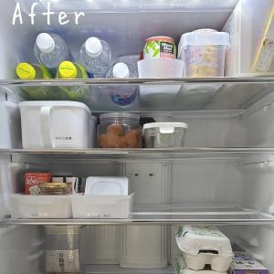 冷蔵庫のお片付けBefore⇒After♪100均グッズで使いやすさUP!