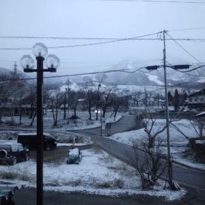 また雪@白馬山麓