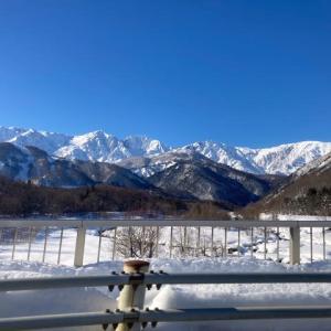 スノーシューと雪と濃い温泉