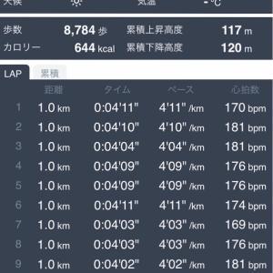 【練習日誌】Mペース 12km