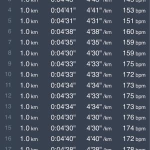 【練習日誌】ロング走 20km