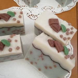 ☆思わず食べたくなっちゃう☆チョコミント石鹸