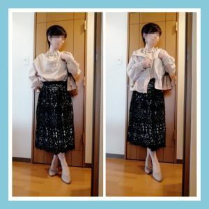 ☆anana BIGパールBL×レーススカート☆今日のコーデ(2020年6月16日)