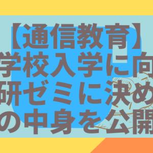 【通信教育】小学校入学に向け進研ゼミに決めました!中身を公開!