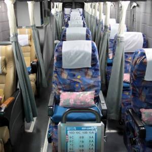 夜行バス 東京ー大阪  3列(通路は2本で横に人はいない)+トイレがいいね