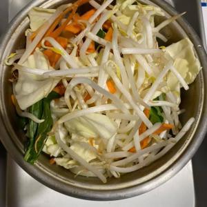 お茶漬け海苔を使った野菜煮、野菜スープ  野菜臭さが取れてうまかったー