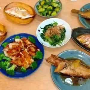 7月13日 魚調理で晩御飯