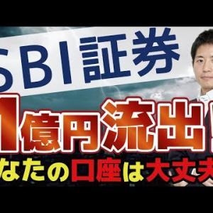 【SBI証券】1億円流出!ドコモ口座よりも圧倒的に大きい被害額。元凶はゆうちょ銀行?原因と被害にあわないための対策を教えます