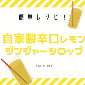 簡単!自家製辛口レモンジンジャーシロップの作り方