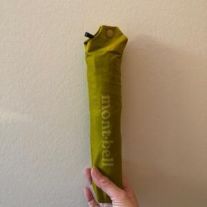 軽量、コンパクトなモンベル折り畳み傘の使い心地