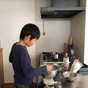 小学5年男子のお菓子作り