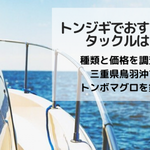 トンジギでおすすめのタックルは?種類と価格を調査!三重県鳥羽沖でトンボマグロを釣る