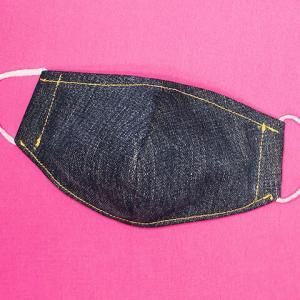 デニムで作る!フィルターとノーズワイヤーが入れ替えできる立体マスク
