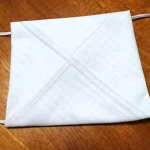 超簡単!不器用でも大丈夫!縫わずに作れる布マスク / 5ヶ所留めるだけ!サイズも自由自在!