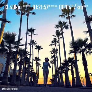 """13.49km(6'05"""") 逗子ビーチラン【2021/1/21】"""