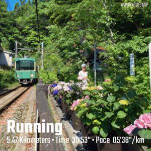 """5.47km(5'39"""")  疲労時ラン【2021/5/18】"""