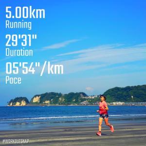 """5.00km(5'55"""")  スピードリピート【2021/5/25】"""