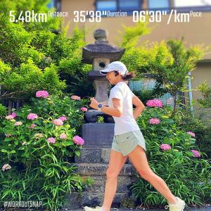 """5.48km(6'30"""") イージーラン【2021/5/26】"""