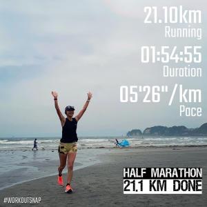 """21.1km(5'27"""") ハーフマラソン【2021/5/29】"""