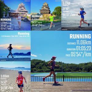 福岡&大分旅ランと500エラー後の月例湘南マラソン【週刊ラン日誌】