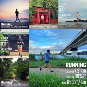 8月の走行距離とシャワーランの9月【週刊ラン日誌】