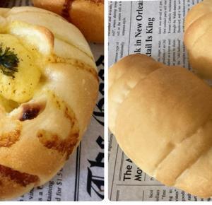 じゃがいもパンとバターロール