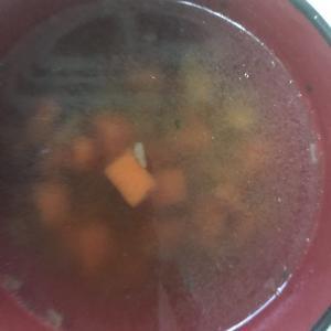 今日の節約料理(オニオンコンソメスープ)