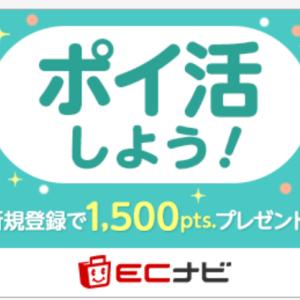 ECナビは最もポイントが貯まりやすいポイントサイト。1カ月で1000円以上なんて余裕!