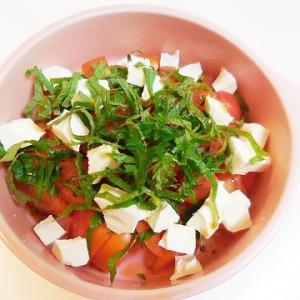 亜麻仁油のトマトサラダ♪