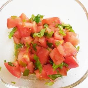 トマトのさっぱりソース♪