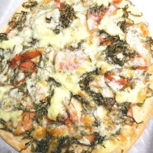 ピザミックスで簡単トマトと大葉のピザ♪