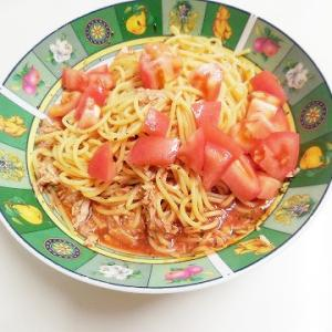 トマトジュースで簡単冷製パスタ♪