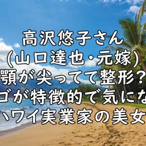 高沢悠子(山口達也・元嫁)の顎は整形?尖りすぎて切れ味が凄い?【画像】