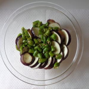 甘長とうがらしと茄子の簡単オリーブオイル和え