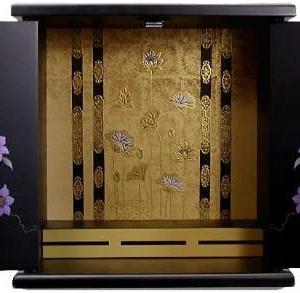 マンションに最適 コンパクト仏壇 漆器ミニ仏壇 鉄仙 小 80008