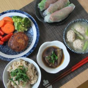 *おうちごはん*青森が誇る『源タレ』で美味しい豆腐ハンバーグ♪~5月3日~