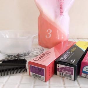 セルフカラー②|ミルボンオルディーブ・アディクシー・クリスタルを使って髪染めしました