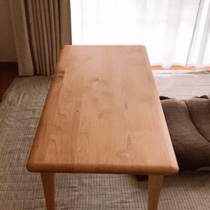 アルダー材のセンターテーブル|無垢材のナチュラルなリビングテーブルを購入しました