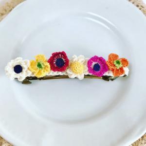 お花のバレッタとコリラックマちゃん