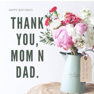 誕生日は、両親への感謝の日